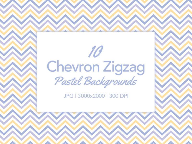 Chevron Zigzag Backgrounds in Pastel Colors