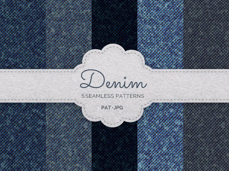 Seamless Denim Patterns