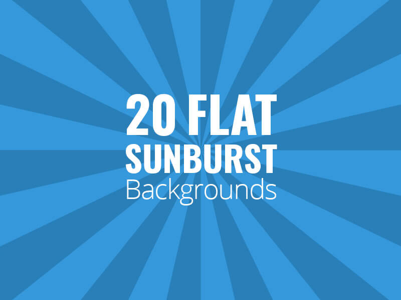 Flat Sunburst Backgrounds