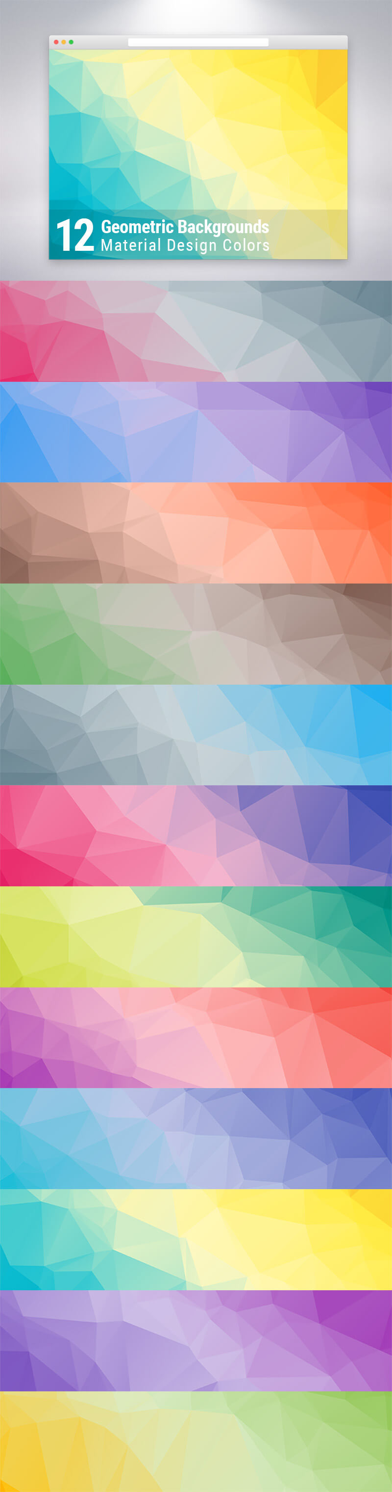 Material Design Geometric Backgrounds Preview
