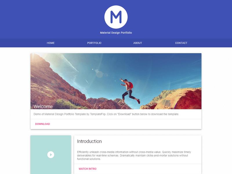 Material Portfolio : A Material Design Portfolio Template